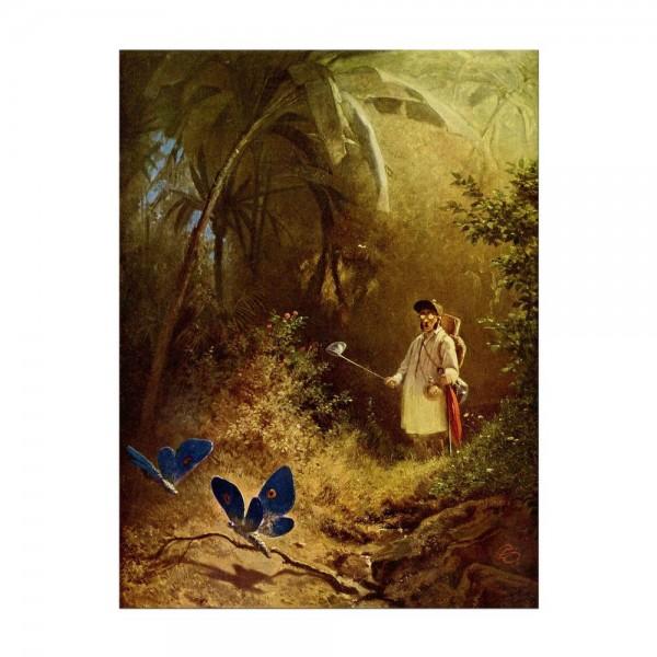 Leinwandbild - Carl Spitzweg - Der Schmetterlingsfänger