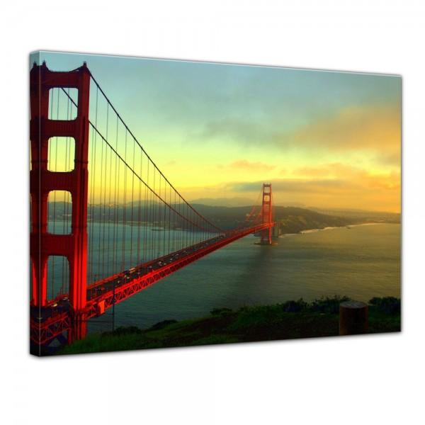 SALE Leinwandbild - Golden Gate Bridge - San Francisco II - 80x60 cm