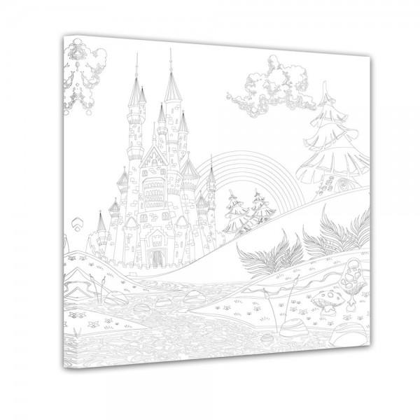 Burg - Ausmalbild