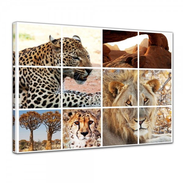 SALE Leinwandbild - Afrika Collage I - 50x40 cm