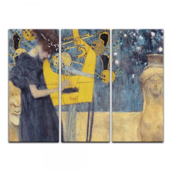 Leinwandbild - Gustav Klimt - Die Musik