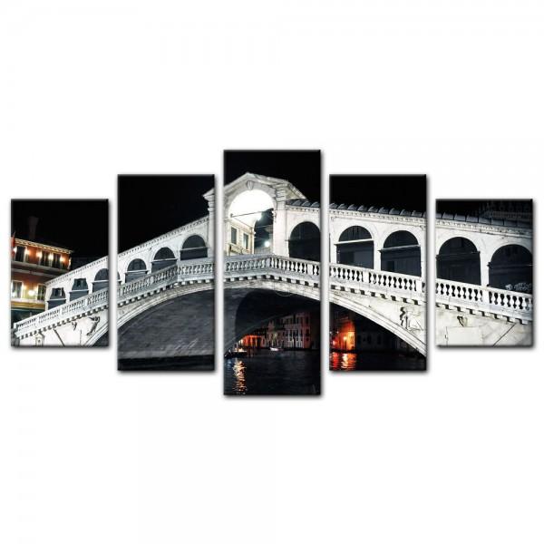 Leinwandbild - Rialto Brücke - Venedig Italien