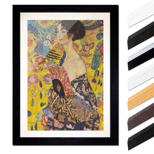 Gustav Klimt - Dame mit Fächer