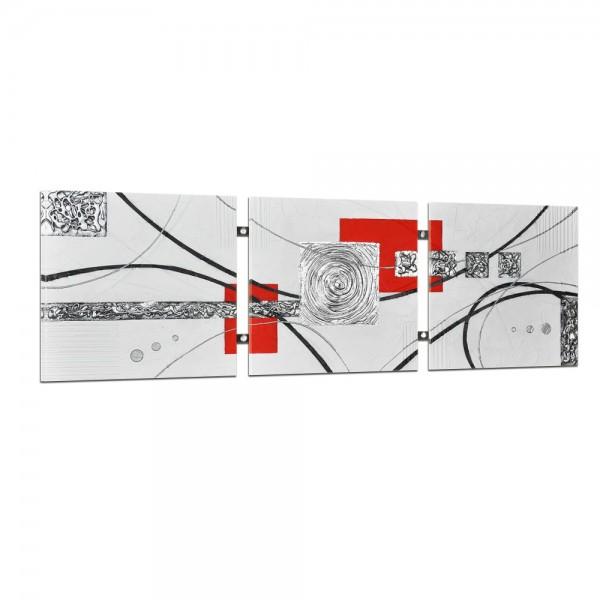Abstrakte Kunst handgemaltes Wandbild 104x33cm - 3D Struktur - 4006