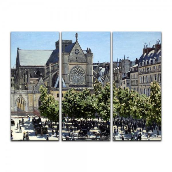 Leinwandbild - Claude Monet - Saint Germain l'Auxerrois in Paris