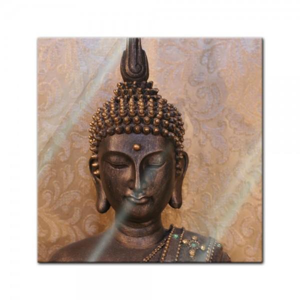 Glasbild - Buddha