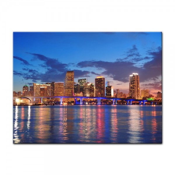 Leinwandbild - Skyline von Miami South Beach - Florida