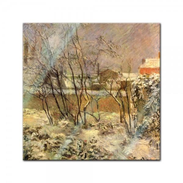 Glasbild Paul Gauguin - Alte Meister - Schnee in der Rue Carcel