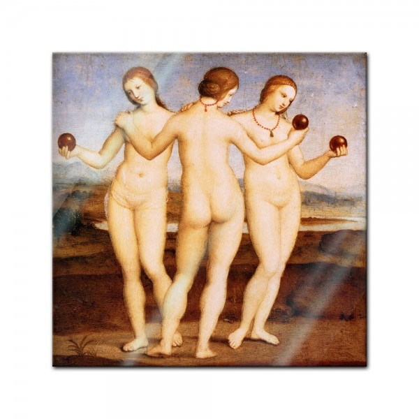 Glasbild Raffael - Alte Meister - Die drei Grazien