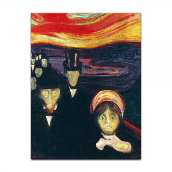 Leinwandbild - Edvard Munch - Anxiety - Angst