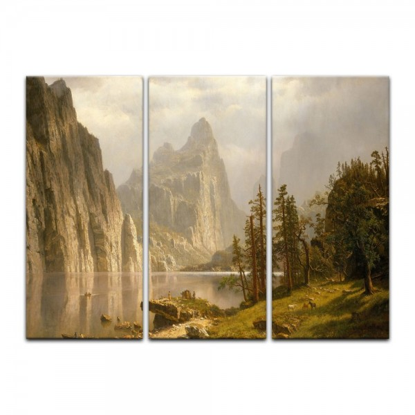 Leinwandbild - Albert Bierstadt - Merced River Yosemite Valley