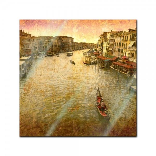 Glasbild - Szene Venedig