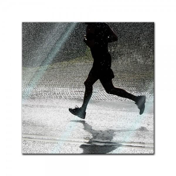 Glasbild - Running Retro