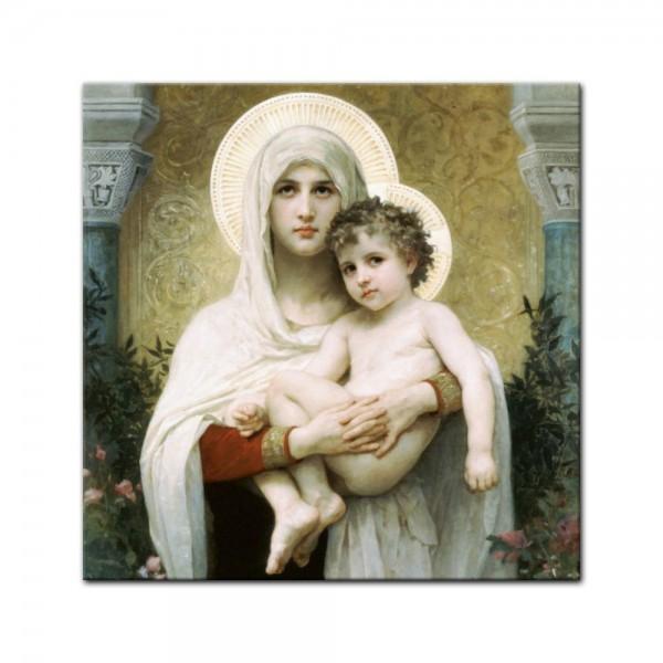 Leinwandbild - William-Adolphe Bouguereau - Madonna vor Rosen