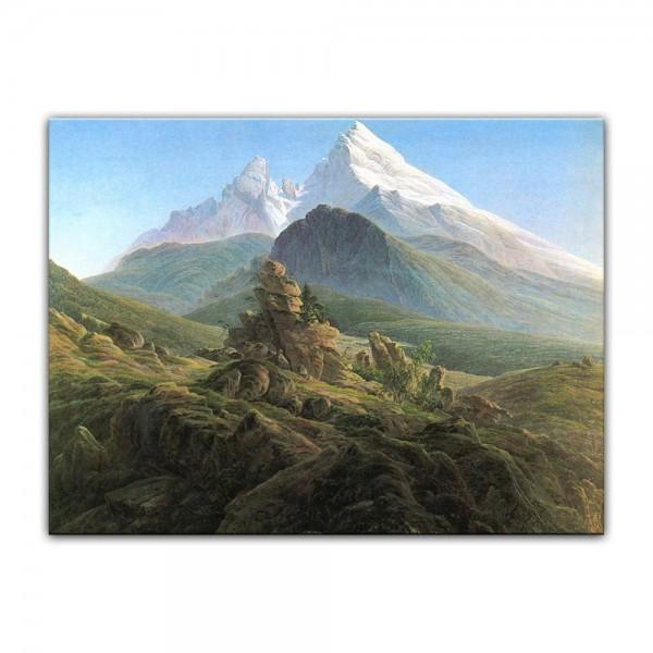 Leinwandbild - Caspar David Friedrich - Der Watzmann