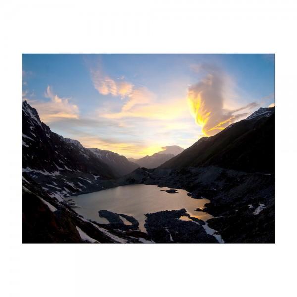 Leinwandbild - Naturphänomen im Kaukasus, Elbrus - Russland