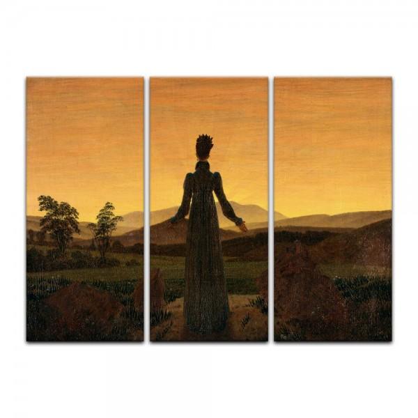 Leinwandbild - Caspar David Friedrich - Frau vor der untergehenden Sonne