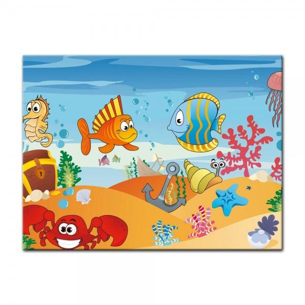 Leinwandbild - Kinderbild - Unterwasser Tiere VII