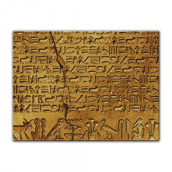Leinwandbild - Hieroglyphen