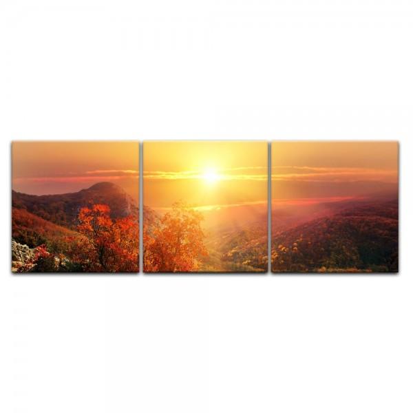 Leinwandbild - Sonnige Herbstlandschaft