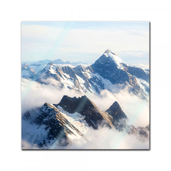 Glasbild - Mount Cook - Neuseeland