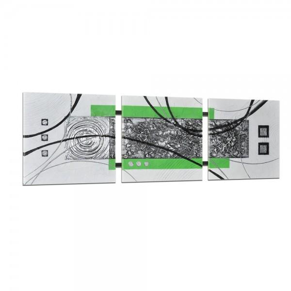 Abstrakte Kunst handgemaltes Wandbild 104x33cm - 3D Struktur - TR04