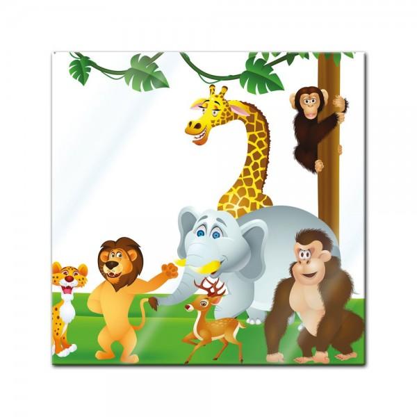 Glasbild - Kinderbild Tiere Cartoon III