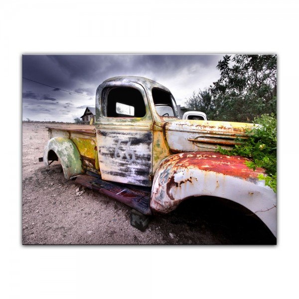 Leinwandbild - Alter rustikaler Truck