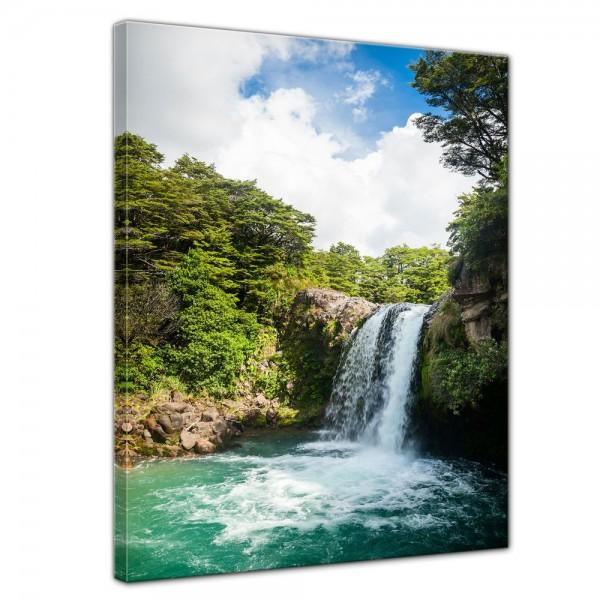 SALE Leinwandbild - Tawhai Falls Neuseeland - 30x40 cm