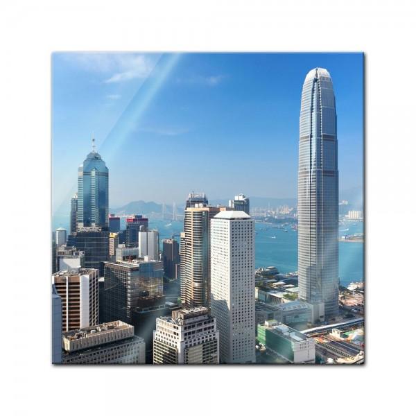 Glasbild - Hong Kong