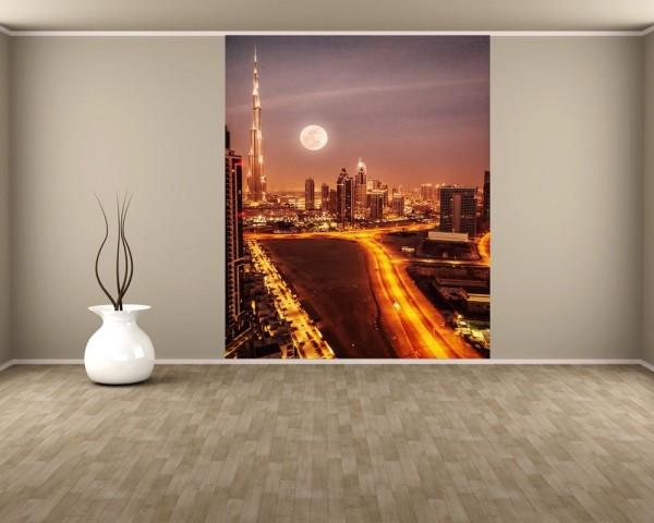 Fototapete Dubai im Mondlicht