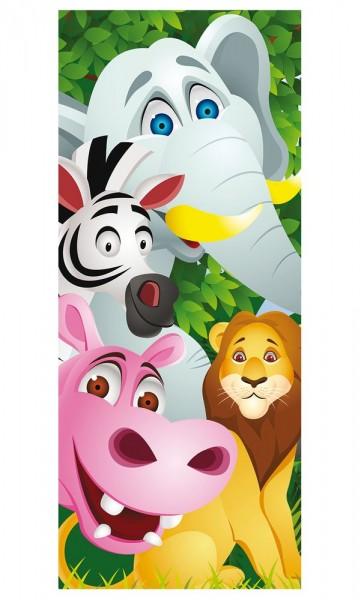 Türaufkleber - Kinderbild Tiere Cartoon II