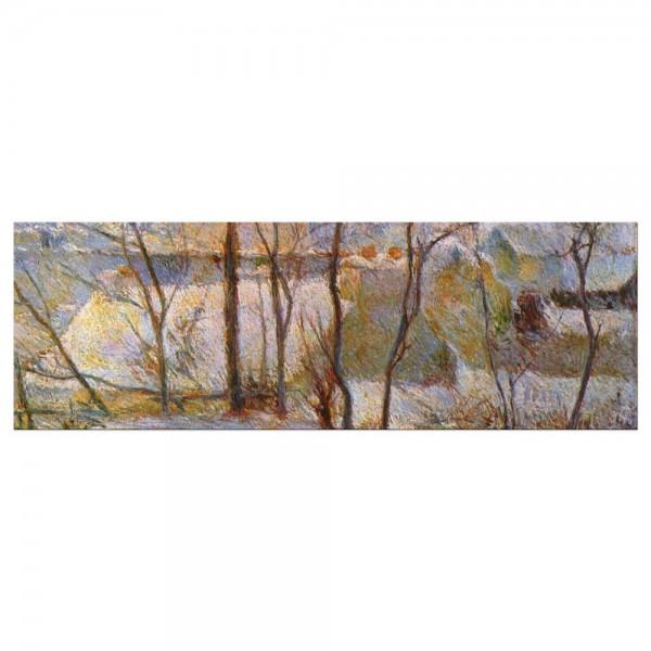 Leinwandbild - Paul Gauguin - Garten im Schnee