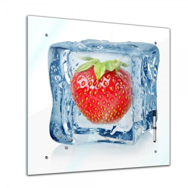 Memoboard - Essen & Trinken - Eiswürfel Erdbeere - 40x40 cm