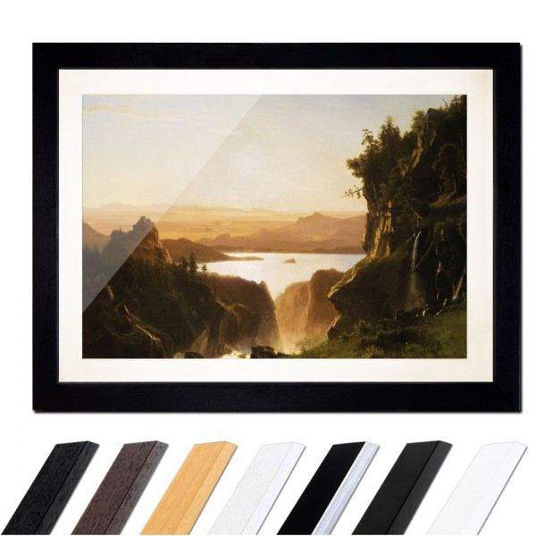 Albert Bierstadt - Island Lake, Wind River Range, Wyoming