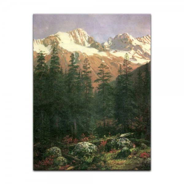 Leinwandbild - Albert Bierstadt - Canadian Rockies