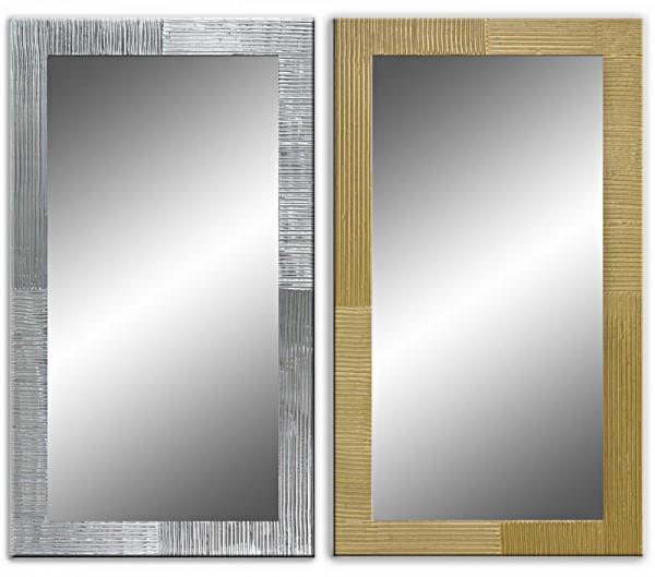 Wandspiegel mit handbemaltem Rahmen - Streifenoptik - ca. 105x65 cm