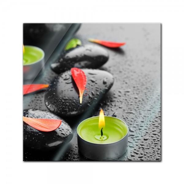 Glasbild - Zen Steine IX
