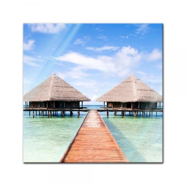 Glasbild - Tropischer Strand