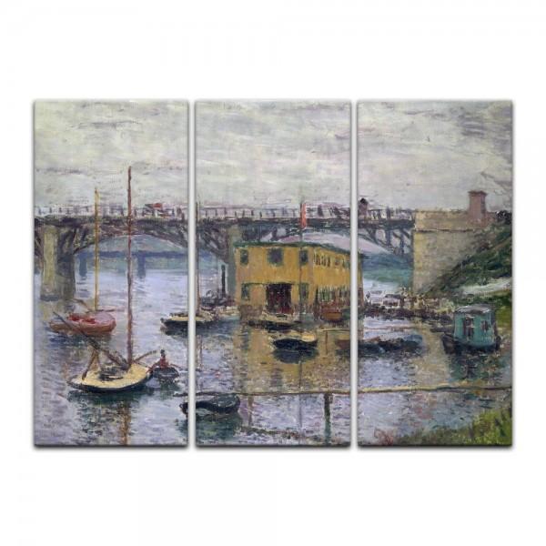 Leinwandbild - Claude Monet - Brücke bei Argenteuil an einem grauen Tag