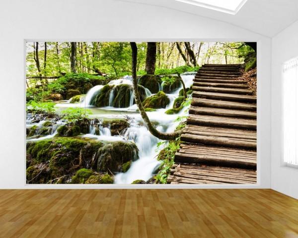 Fototapete Wasserfall in Plitvice, Kroatien