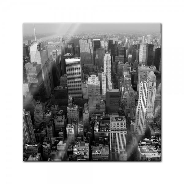 Glasbild - Skyline von New York