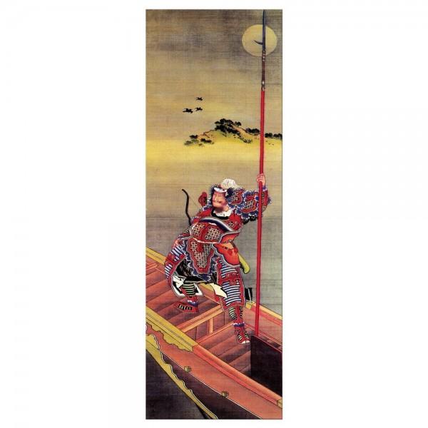 Leinwandbild - Katsushika Hokusai - Krieger im Boot