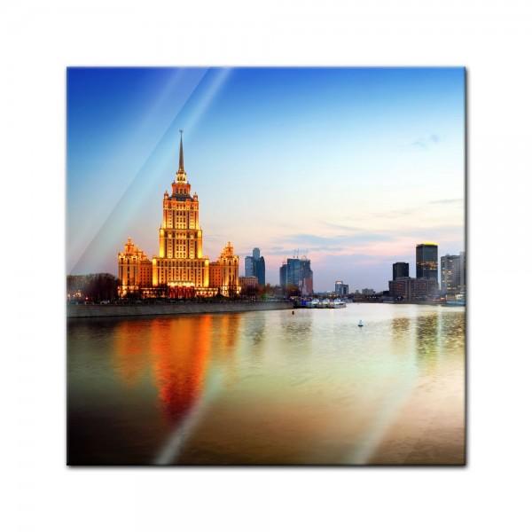 Glasbild - Moskau - Russland