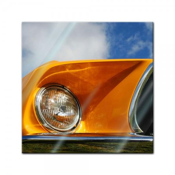 Glasbild - Ford Mustang - orange