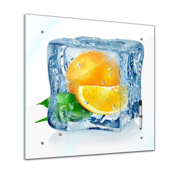 Memoboard - Essen & Trinken - Eiswürfel Orangen - 40x40 cm
