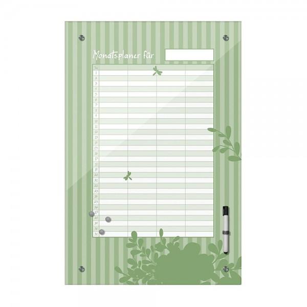 Memoboard - Monatsplaner - grün