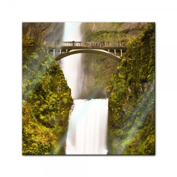 Glasbild - Multnomah Falls in Oregon - USA