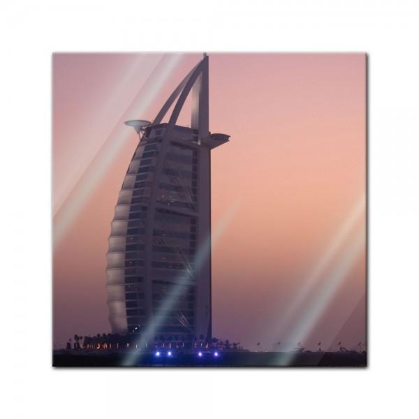 Glasbild - Burj al Arab Hotel in Dubai