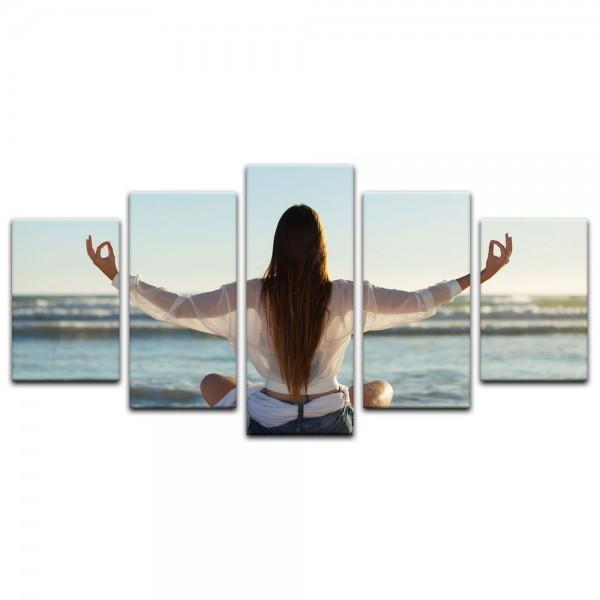 Leinwandbild - Yoga am Strand III